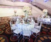 decorations in banquet hall