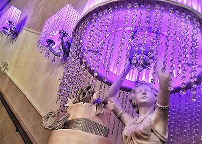 Venue Decor Purple Lamp Cake Statue