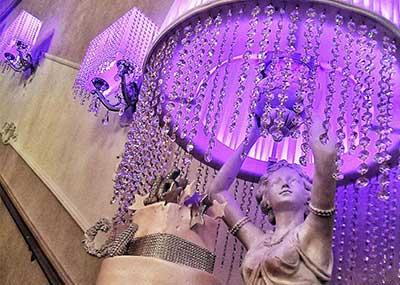 Venue Decor Purple Lamp Cake Statue