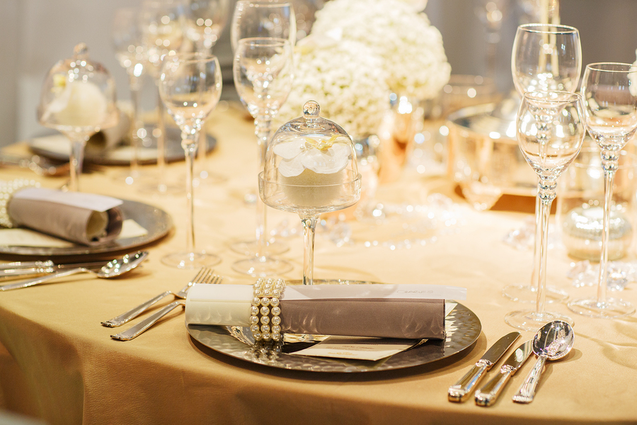 Vatican Banquet Hall Table Setting