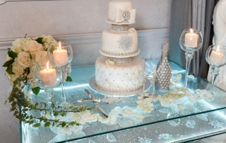 Metallic Colors on Cake at Vatican Banquet Hall