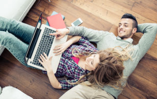 Couple Shopping Online Together