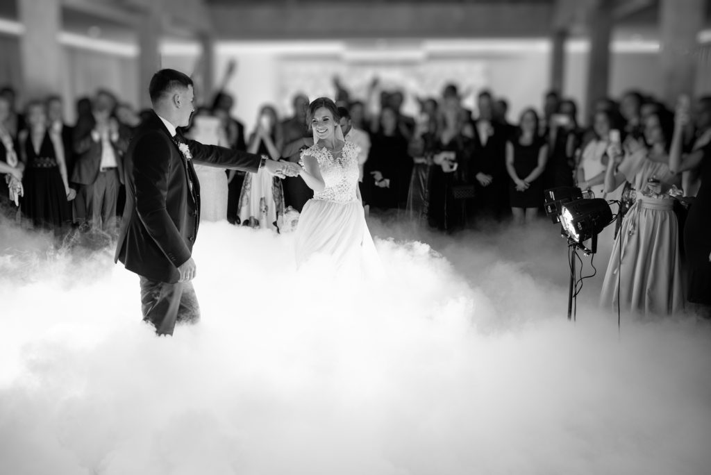 capturing first dance - wedding videographer