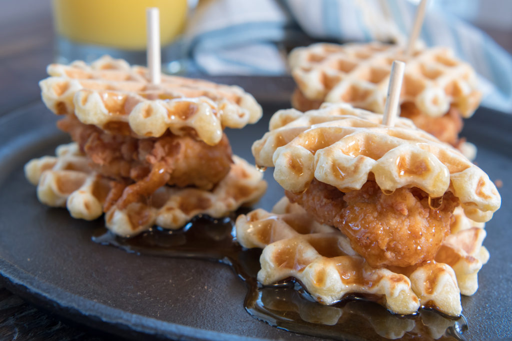 chicken and waffles - late-night wedding snacks