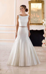 boat neck - wedding dress styles