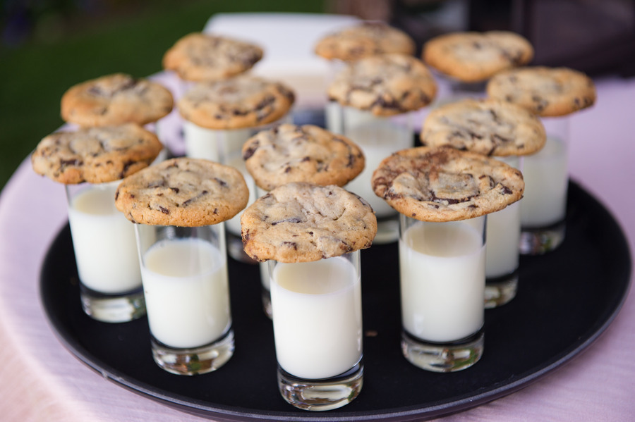 milk and cookies - late-night wedding snacks