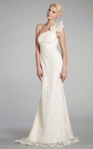 one shoulder - wedding dress styles