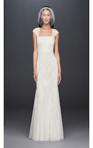 square neck - wedding dress styles