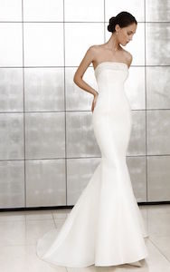 strapless straight - wedding dress styles