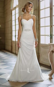 sweetheart with strap - wedding dress styles