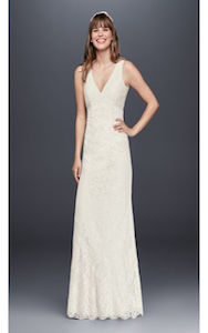 v neck - wedding dress styles