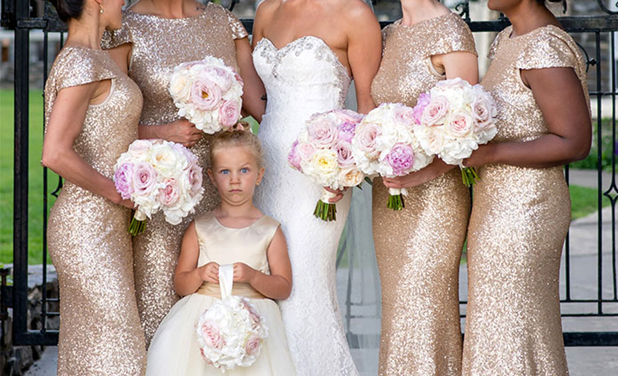 Adults Only Wedding - Flower Girl With Funny Face