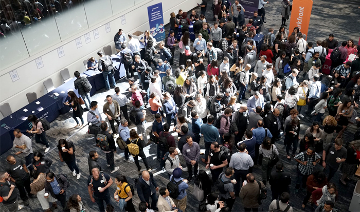 Corporate Events - Crowd At A Trade Show