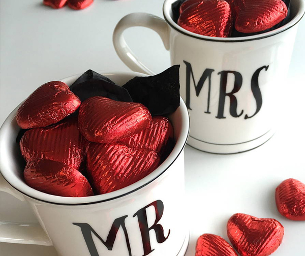 Best Wedding Shower Favors - Personalized Candy Mugs