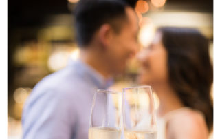 Planning An Engagement Party - Couple Holding Champagne Glasses