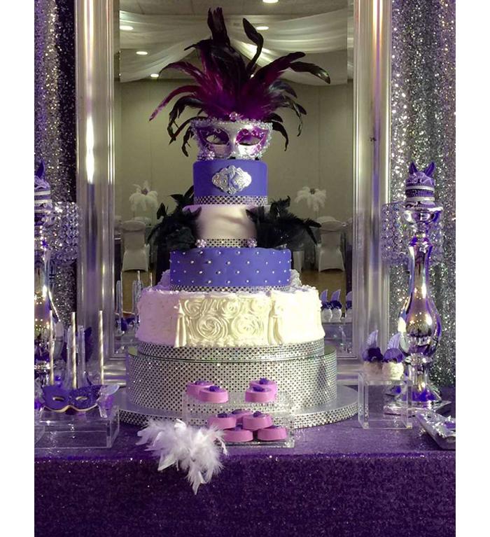 Quinceanera Themes - Masquerade Cake