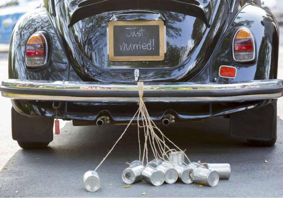 Wedding Traditions Disappearing - Tin Cans On Car