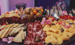 Wedding food and table