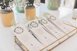 Wedding programs organized